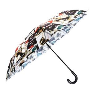 Burberry Graffiti Archive Print Folding Umbrella